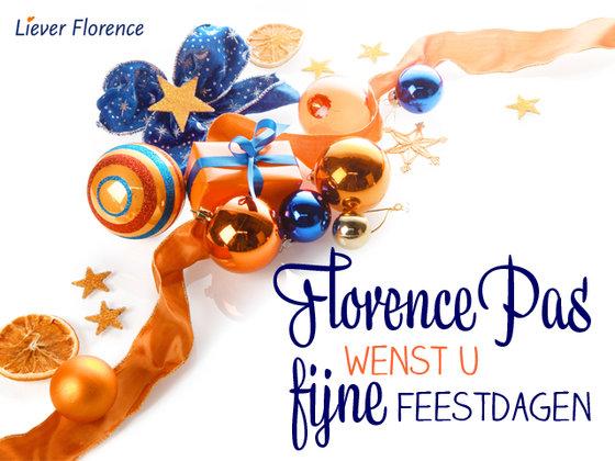 Florencepas fijne feestdagen