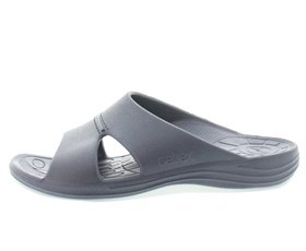 aetrex heren slipper l9002m lynco slides blauw 910001